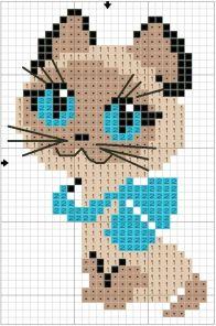 Kanaviçe (Etamin) Kedi Şablonları (13)