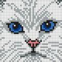 Kanaviçe (Etamin) Kedi Şablonları (16)