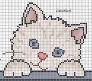Kanaviçe (Etamin) Kedi Şablonları (25)