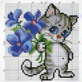 Kanaviçe (Etamin) Kedi Şablonları (38)