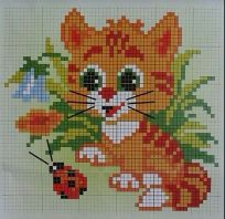 Kanaviçe (Etamin) Kedi Şablonları (40)
