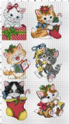 Kanaviçe (Etamin) Kedi Şablonları (6)