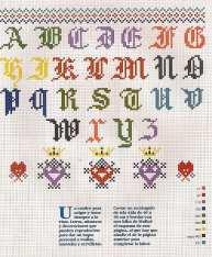 Kanaviçe, etamin alfabe, harf ve rakam şablonu (2)