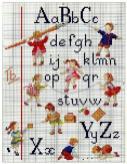 Kanaviçe, etamin alfabe, harf ve rakam şablonu (6)