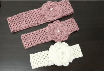 Bebek Saç Bandı Örgü Modelleri -1