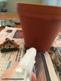 Bahçe İçin Peri Evi Saksı Yapımı-2