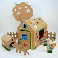 Kartondan Ev Yapımı-11