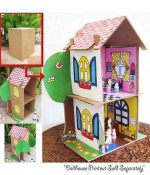 Kartondan Ev Yapımı-9