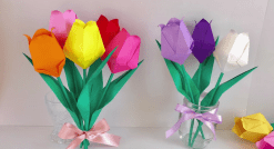 Origami Lale Yapılışı-4