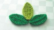 Tığ işi yaprak modeli