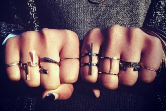 Selin Kent rings on hands