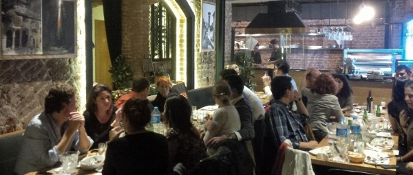 People dining at Antiochia restaurant