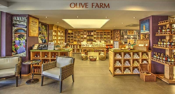 Inside Olive Farm shop