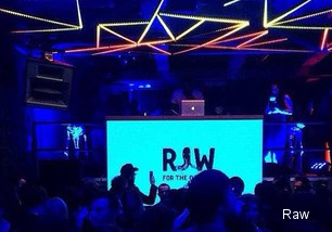 Clubbers dancing at Istanbul Raw