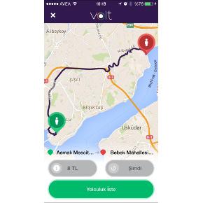 Screenshot of the Volt app