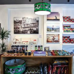 Photos and cushions at 3rd Culture çukurcuma