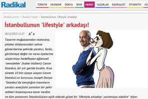 Joseph Donyo speaks with Radikal about his Canim Istanbul project