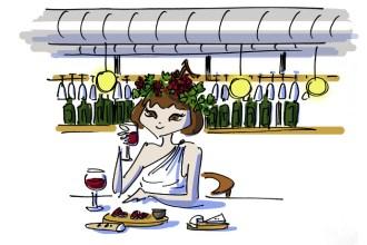 Girl drinking wine at Suvla Kanyon