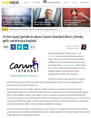 Screenshot of Webrazzi article on Canım Istanbul 2