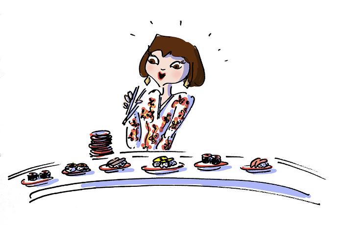 Hai sushi Istanbul illüstrasyon