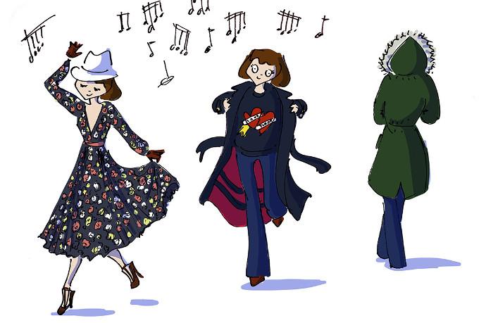 Tommy Hilfiger winter illustration