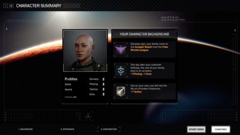 Battle tech character summary screen