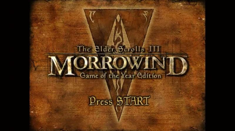 Morrowind title screen