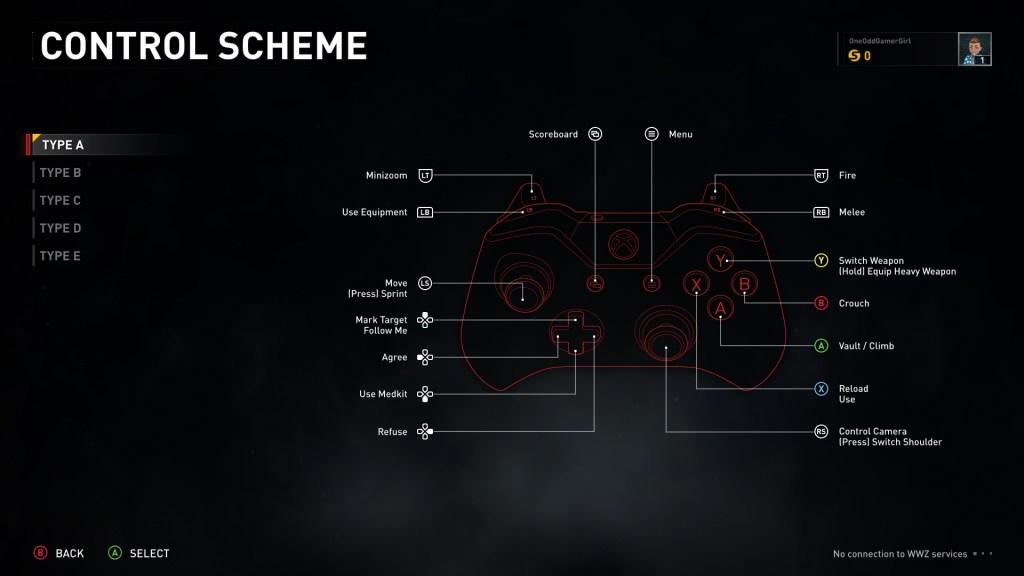 Control scheme options