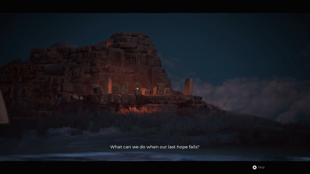 Opening cinematic illustrating the small subtitle size.