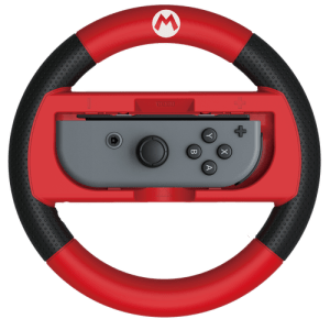 Mario Kart 8 Deluxe Racing Wheel (Mario) for Nintendo Switch. Clicking the image will bring you to the HORI website