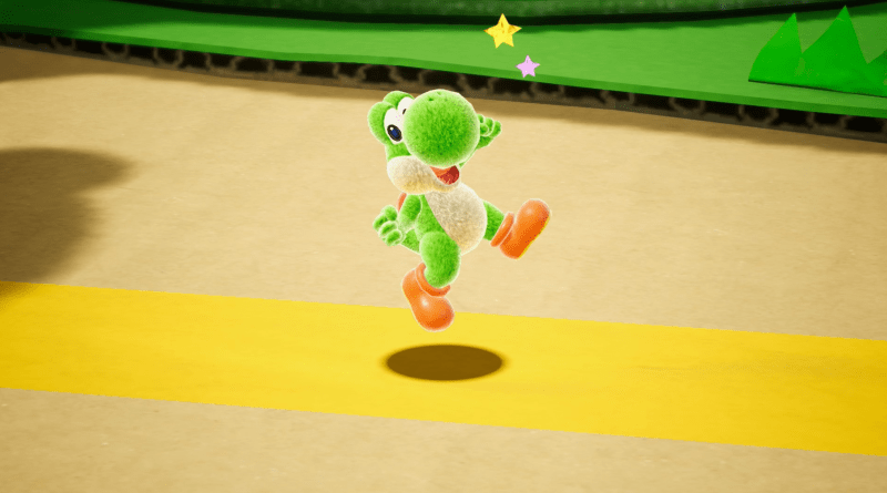Yoshi's Crafted World press art.