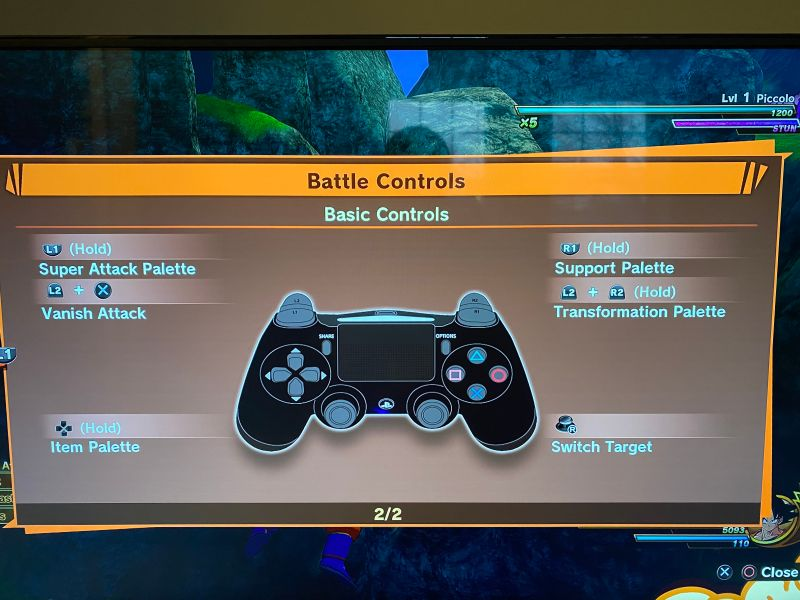 Battle controls page 2.
