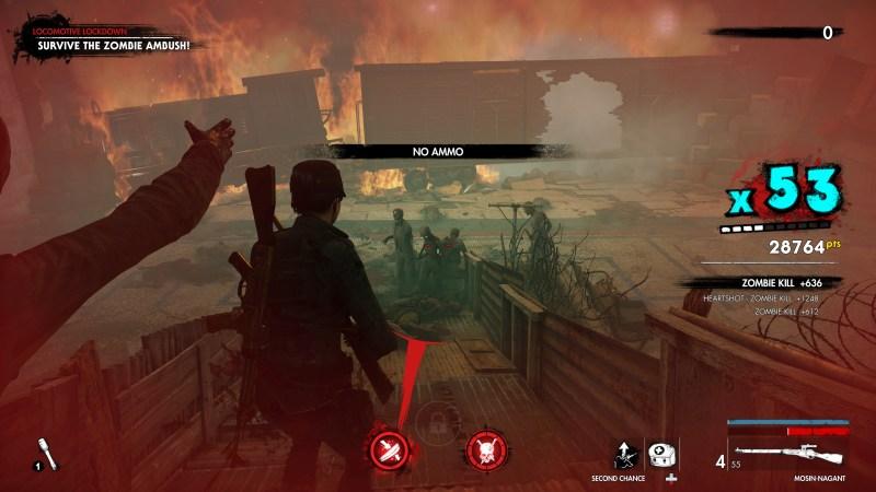 Illustrating the enemy presence visual indicator.