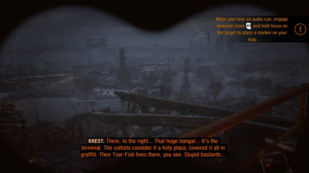 Tool tip indicating the player needs to listen for a certain sound.