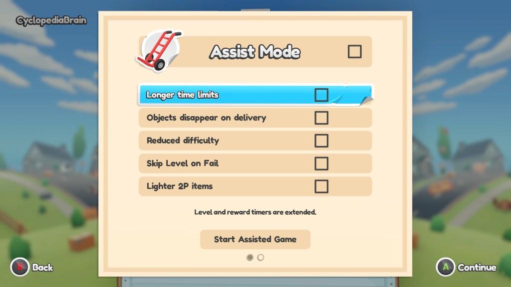 Assist mode options