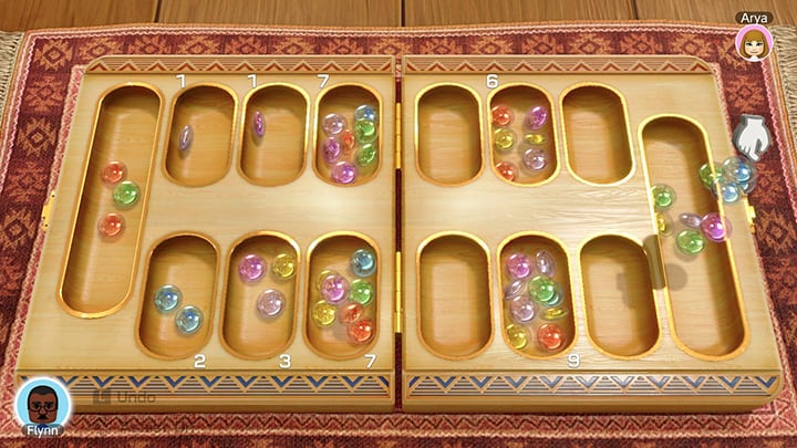 Clubhouse Games Mancala gameplay