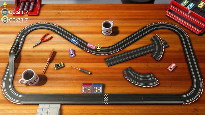 Clubhouse Games Slot cars gameplay