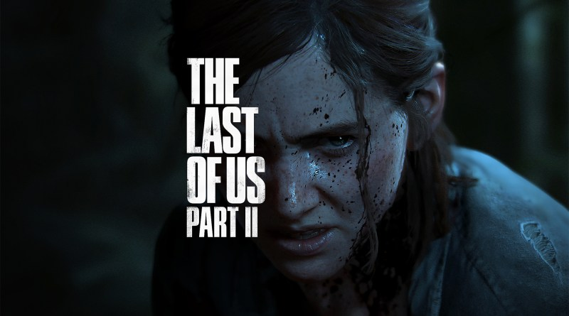The Last of Us 2 Ellie looking angry, face covered by the logo