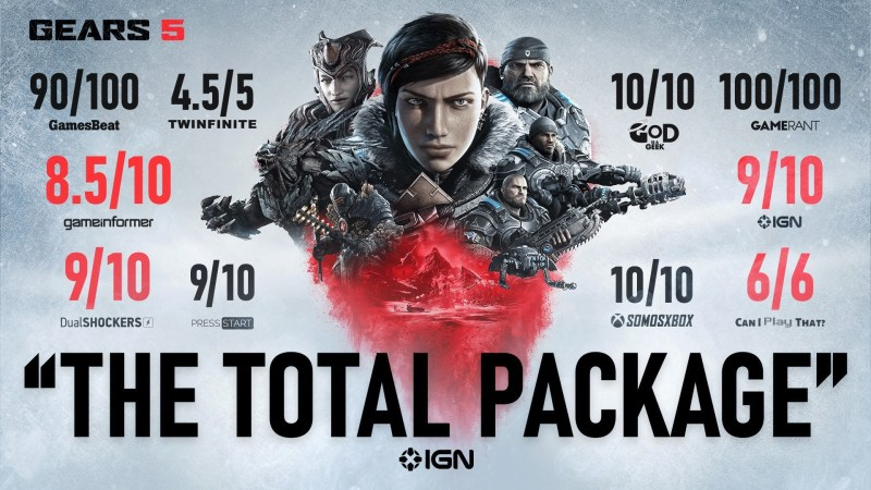 Gears 5 review accolades compilation.