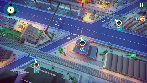 Urban Flow - Gameplay showing colorblind options