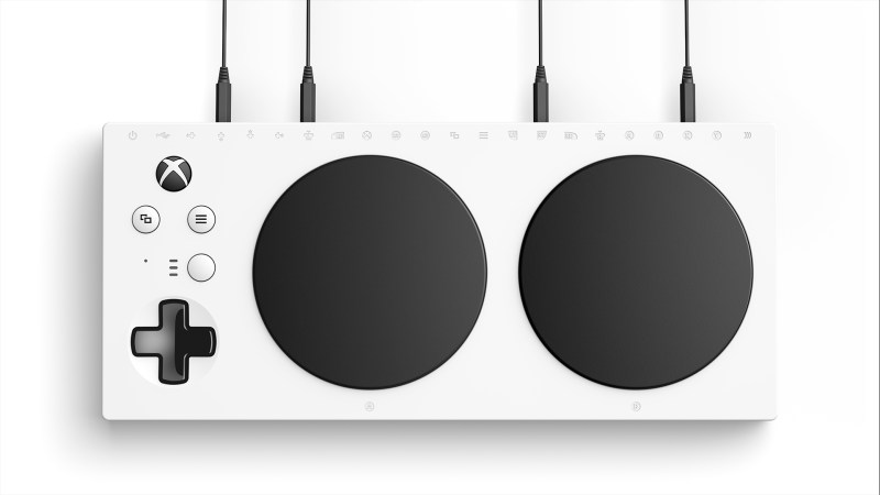 Xbox Adaptive Controller top down view
