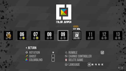 Color Jumper options menu