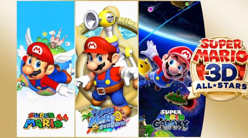 Super Mario 3D All-Stars Art of all 3 games