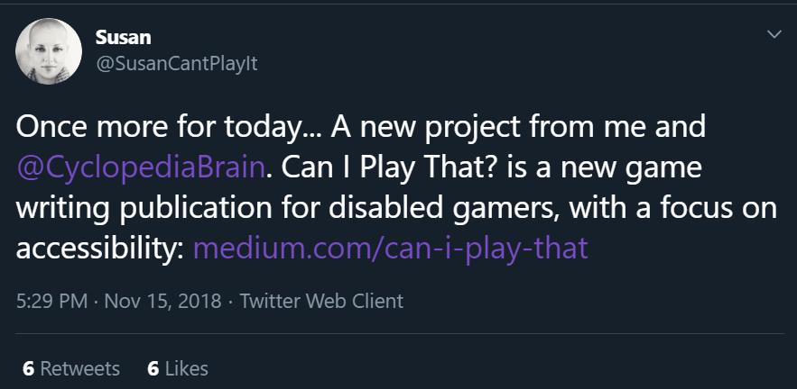 Susan's tweet announcing the launch of CIPT.