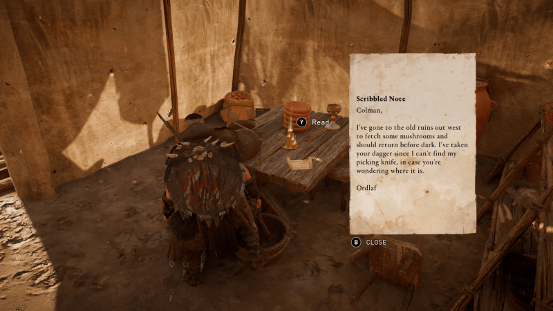 A note found in Assassin's Creed Valhalla