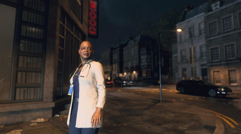 A Black female doctor character in Watch Dogs Legion.