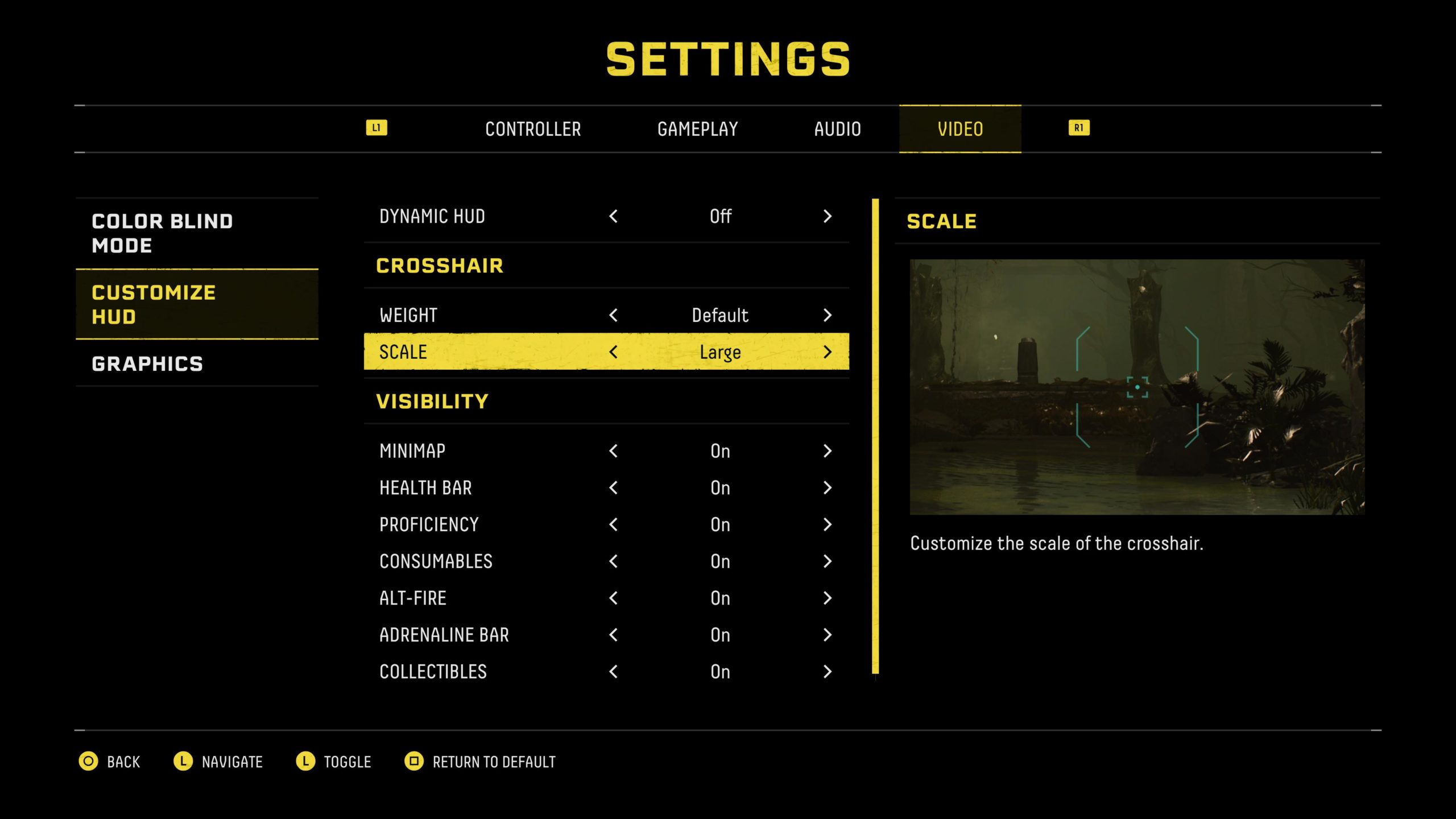 The crosshair at the default size and weight.