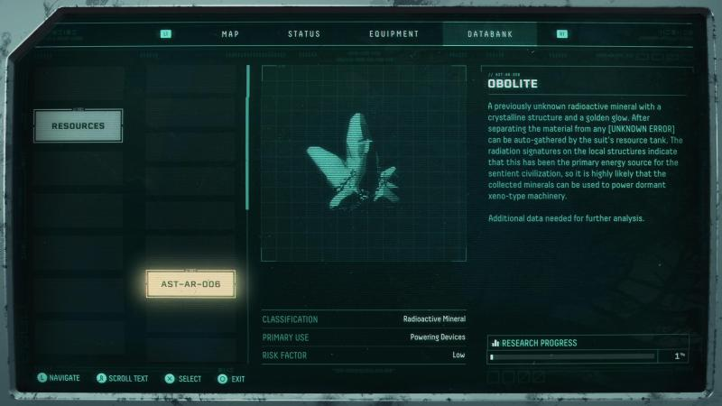 Illustrating the somewhat small in-game menu text.