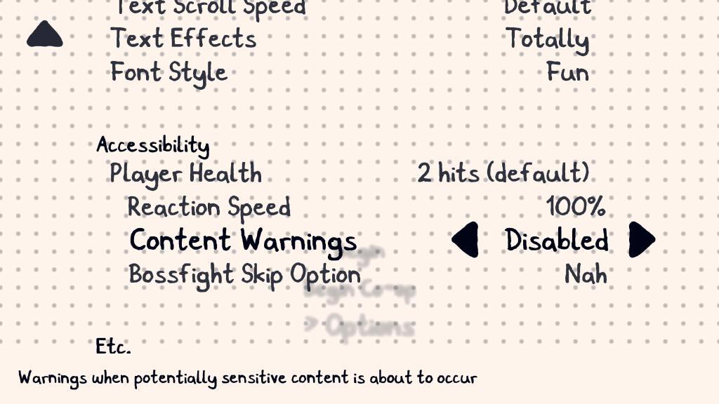 Accessibility menu.