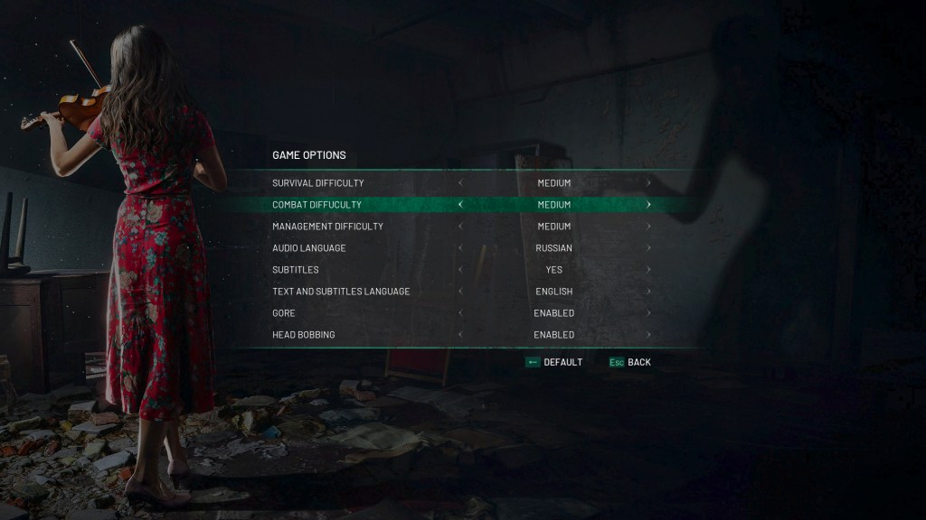 chernobylite game options settings
